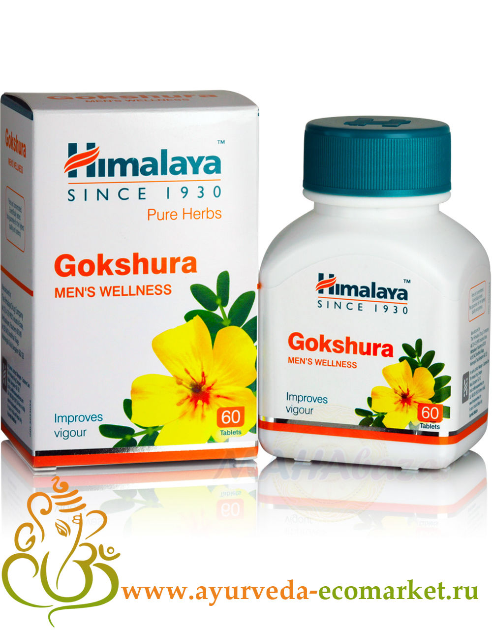 "Фото 7920: Гокшура, 60 таблеток, производитель ""Хималая"", Gokshura, 60 tab. Himalaya"
