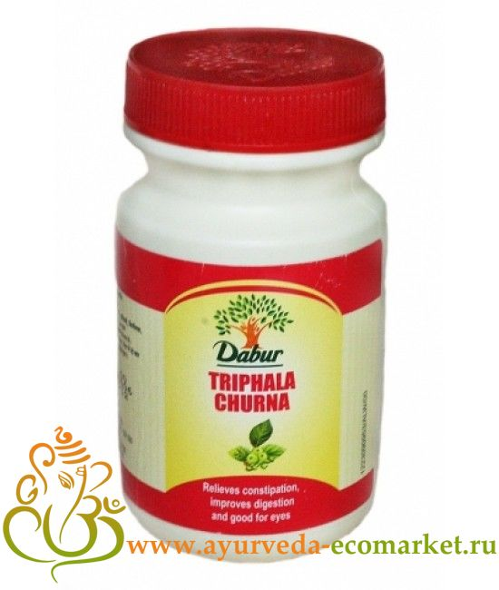 "Фото 9367: Трифала чурна, 120 гр., производитель ""Дабур"", Triphala churna 120 gm.  Dabur"