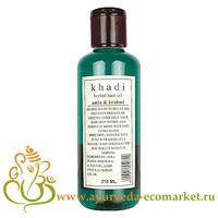 """Фото 1034: Аюрведическое масло для волос """"Амла и брами"""", 210 мл., производитель """"Кхади"""", Herbal Hair Oil Amla & Brahmi, 210 мл. Khadi"""